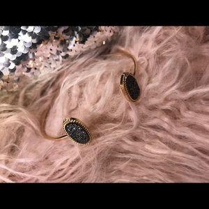 Druzy Stone Cuff Bracelet 🌹